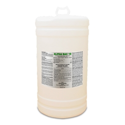 Alpha Bac 10 - 15 gallon drum Alpha Bac 10, Sanitizer, Disinfectant, School Sanitizer, Food Processing Sanitizer