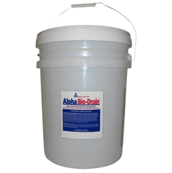Alpha Bio-Drain - 5 gallon pail Bio-Drain,biologic drain maintainer,drain cleaner,animal care facility drain maintenance,green friendly drain maintainer,kennel drain additive